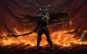 Картинка взгляд, арт, броня, темный лорд, Dark Lord