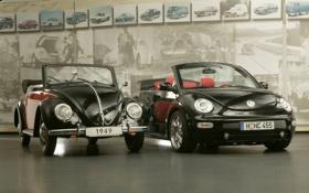 Обои фон, чёрный, Volkswagen, Жук, фотографии, передок, and