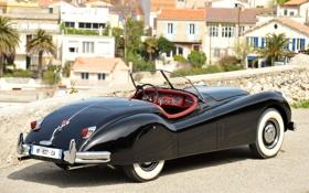 Обои чёрный, Roadster, Jaguar, дома, Ягуар, родстер, классика