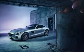 Картинка Mercedes-Benz, AMG, Alien, Supercar, Silver, Extraterrestrial