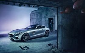 Обои Mercedes-Benz, AMG, Alien, Supercar, Silver, Extraterrestrial