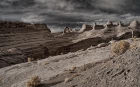 Картинка пейзаж, горы, Arches National Park