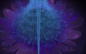Обои цветок, синий, абстракция, лепестки