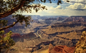Картинка природа, река, скалы, каньон, the Grand Canyon, останцы