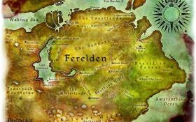 Картинка карта, dragon age, origins, concept art, ферелден