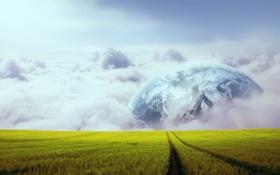 Картинка облака, Природа, Пейзаж, небо, поле, wallpapers