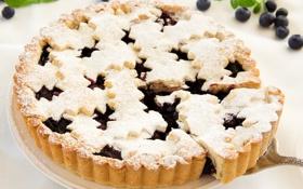Обои сладость, черника, выпечка, blueberry, cakes, sweets, черничный торт
