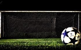 Обои Old Soccer, HDR, Goal