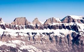 Обои небо, снег, пейзаж, горы, природа, sky, landscape