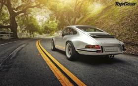 Картинка дорога, Porsche, автомобиль, Porsche 911, top gear, телепередача, топ гир