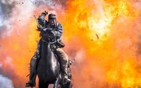 Обои взрыв, индеец, Texas Rising, Brendan Fraser, Восстание Техаса