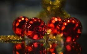 Обои Christmas is coming, праздник, игрушки