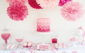 Обои сладости, выпечка, торт, печенье