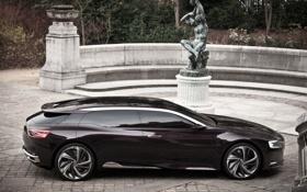 Обои Concept, Citroën, концепт, статуя, вид сбоку, ситроен, номер 9