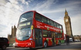 Обои город, Лондон, автобус