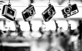 Обои фотоаппарат, черно белое, разное, canon, photo camera