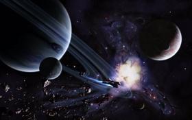 Обои космос, планеты, space, art