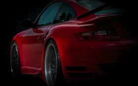 Картинка красный, 911, диски, ракурс, photographer, Turbo, Ruzdi Ekenheim