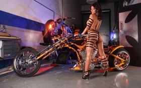 Картинка секси, девушки, мотоцикл, байк, супер, красивые