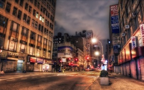 Обои ночь, нью-йорк, night, NYC, new york, Midtown, Broadway