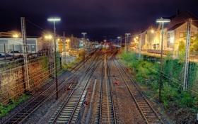 Обои пути, hdr, поезда