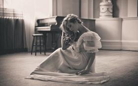 Картинка девушка, комната, настроение