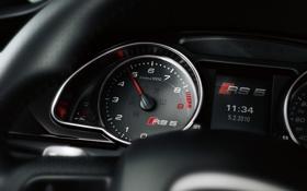 Обои Audi, приборы, спидометр, RS5