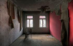 Обои комната, окна, стулья
