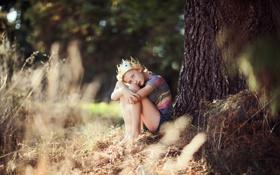 Обои настроение, корона, девочка