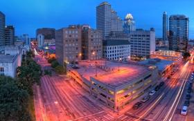 Картинка Остин, Austin, usa, Texas, Twilight, Техас, Panorama