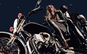 Обои Killer Is Dead, мужчина, байк, девушка, мотоцикл