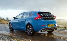 Обои авто, скорость, Volvo, вольво, V40, R-Design