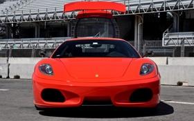 Картинка красная, смотрит, Ferrari 430