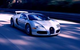 Обои дорога, машины, скорость, veyron, bugatti, cars