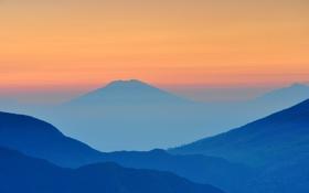 Обои восход, рассвет, япония, гора, photographer, setyo husodo, Stefanus Martanto