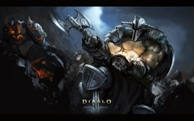 Обои Reaper of Souls, топор, Diablo 3, barbarian