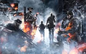 Обои ночь, война, солдаты, Battlefield 3, Поле Битвы 3