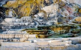 Картинка горы, скалы, цвет, террасы, соль