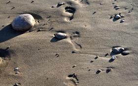 Обои песок, галька, солнце, релакс, отдых, море