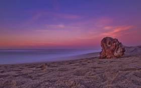 Картинка камни, небо, камень, брёвна, природа, пейзажи, тишина