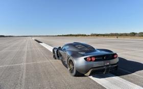 Обои фон, горизонт, суперкар, вид сзади, Hennessey, Venom GT, Хеннесси
