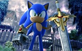 Картинка игры, обои, меч, Соник, sword, ёжик, hero