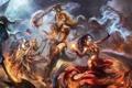 Картинка магия, бой, арт, монстры, Diablo 3
