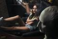Картинка девушка, отражение, дым, сигарета, ножки, photographer, Ivan Gorokhov