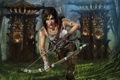 Картинка лес, арт, Tomb Raider, Лара Крофт, Lara Croft