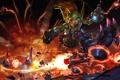 Картинка взрыв, огонь, арт, скейт, гоблин, Hearthstone, Goblin vs Gnomes