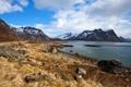 Картинка горы, природа, озеро, фото, побережье, Норвегия, Lofoten