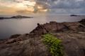 Картинка камни, скалы, небо, тучи, море