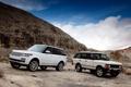 Картинка белый, небо, горы, старый, Land Rover, Range Rover, передок
