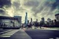 Картинка машины, город, улица, здания, небоскребы, Чикаго, Иллинойс